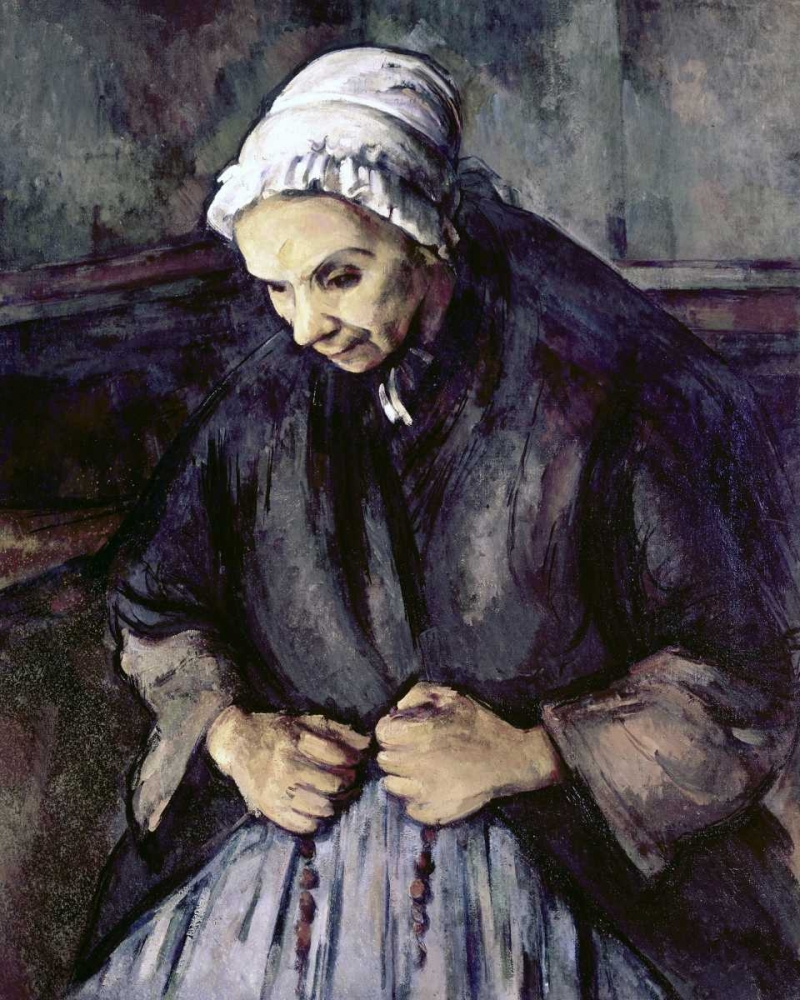 An Old Woman With a Rosary von Cezanne, Paul <br> max. 89 x 112cm <br> Preis: ab 10€
