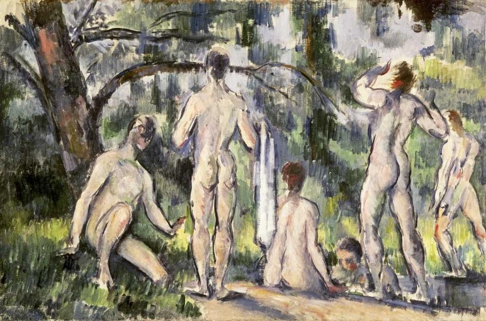 konfigurieren des Kunstdrucks in Wunschgröße Bathers von Cezanne, Paul
