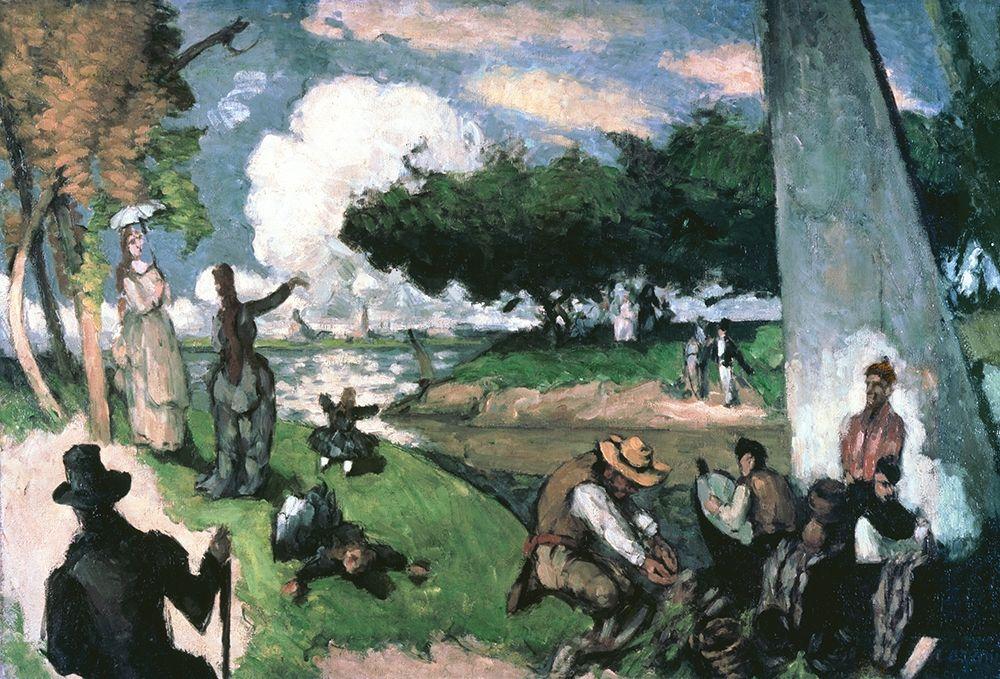 konfigurieren des Kunstdrucks in Wunschgröße Fisherman: Sunday Afternoon, July von Cezanne, Paul
