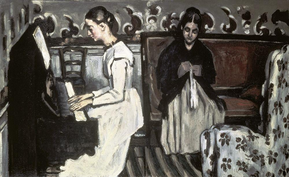 konfigurieren des Kunstdrucks in Wunschgröße Girl at the Piano -The Tannh├ñuser Overture von Cezanne, Paul