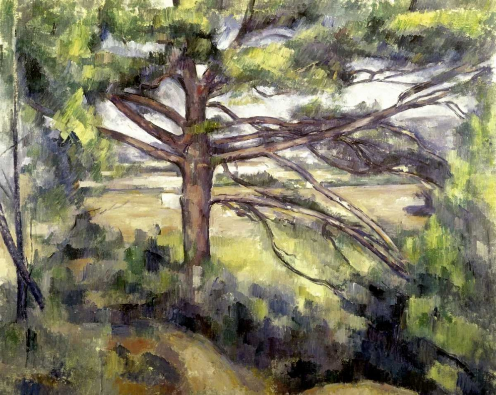 Great Pine and Red Earth von Cezanne, Paul <br> max. 99 x 79cm <br> Preis: ab 10€