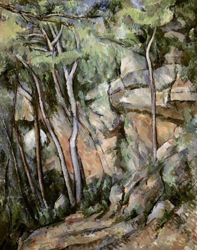 konfigurieren des Kunstdrucks in Wunschgröße In The Park of Chateau Noir von Cezanne, Paul