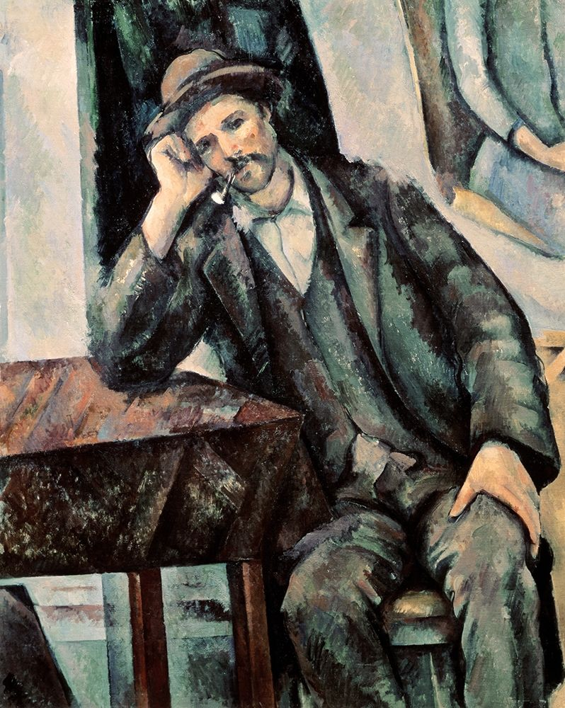 konfigurieren des Kunstdrucks in Wunschgröße Man Smoking a Pipe von Cezanne, Paul