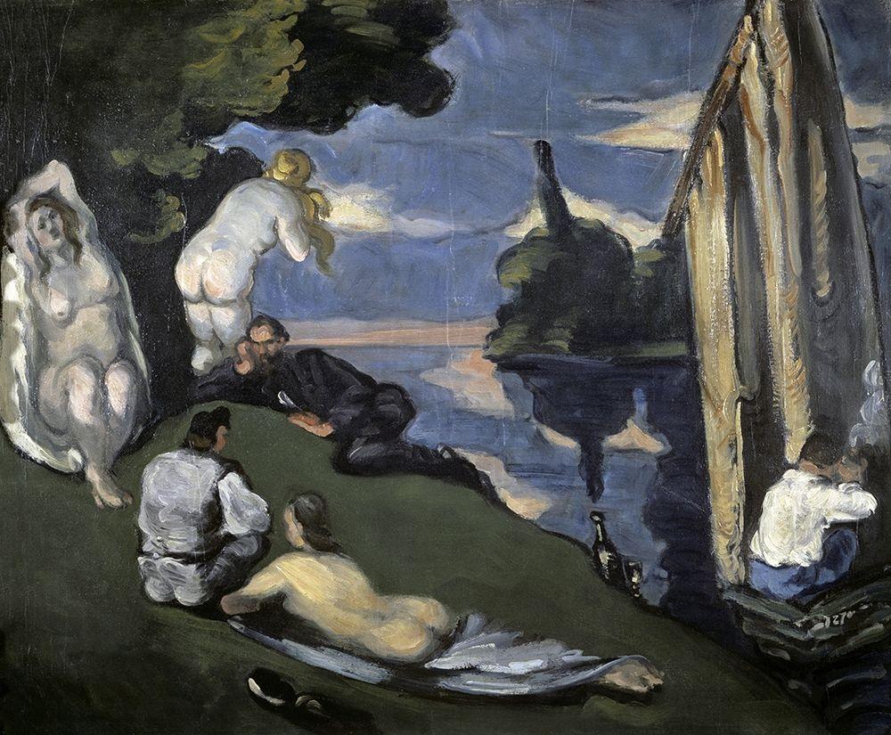 konfigurieren des Kunstdrucks in Wunschgröße Pastoral von Cezanne, Paul