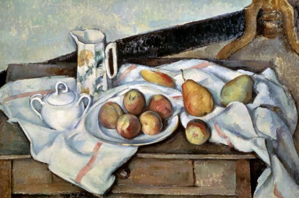 konfigurieren des Kunstdrucks in Wunschgröße Peaches and Pears von Cezanne, Paul