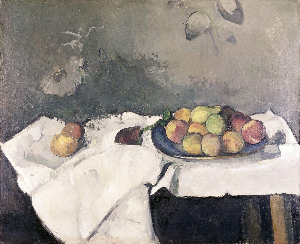 konfigurieren des Kunstdrucks in Wunschgröße Plate of Peaches von Cezanne, Paul