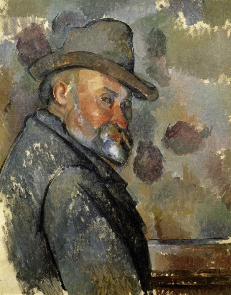 konfigurieren des Kunstdrucks in Wunschgröße Self Portrait von Cezanne, Paul