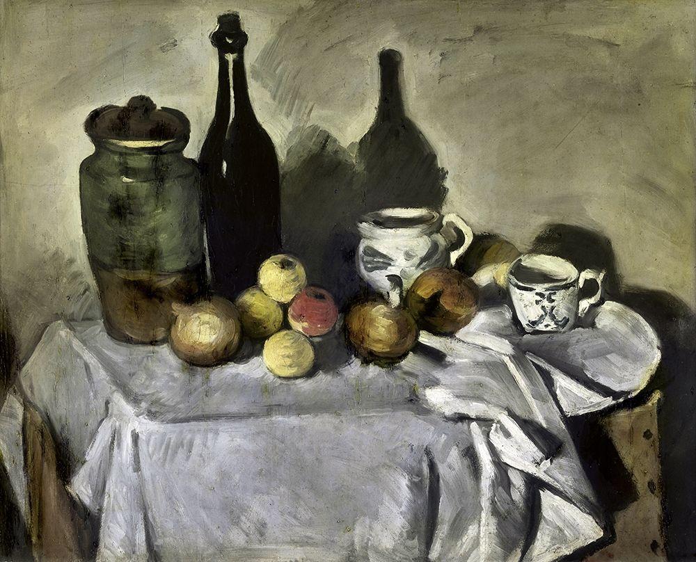 konfigurieren des Kunstdrucks in Wunschgröße Still Life with Table Utensils von Cezanne, Paul