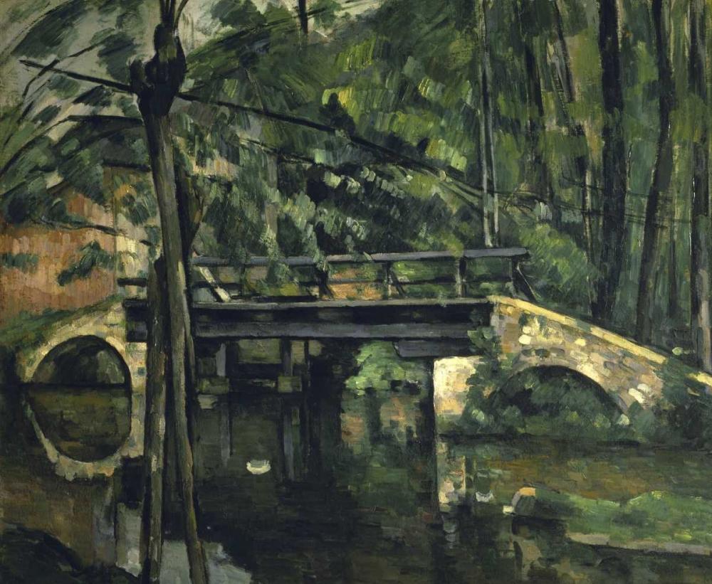 konfigurieren des Kunstdrucks in Wunschgröße The Bridge at Maincy - Le Pont de Maincy von Cezanne, Paul