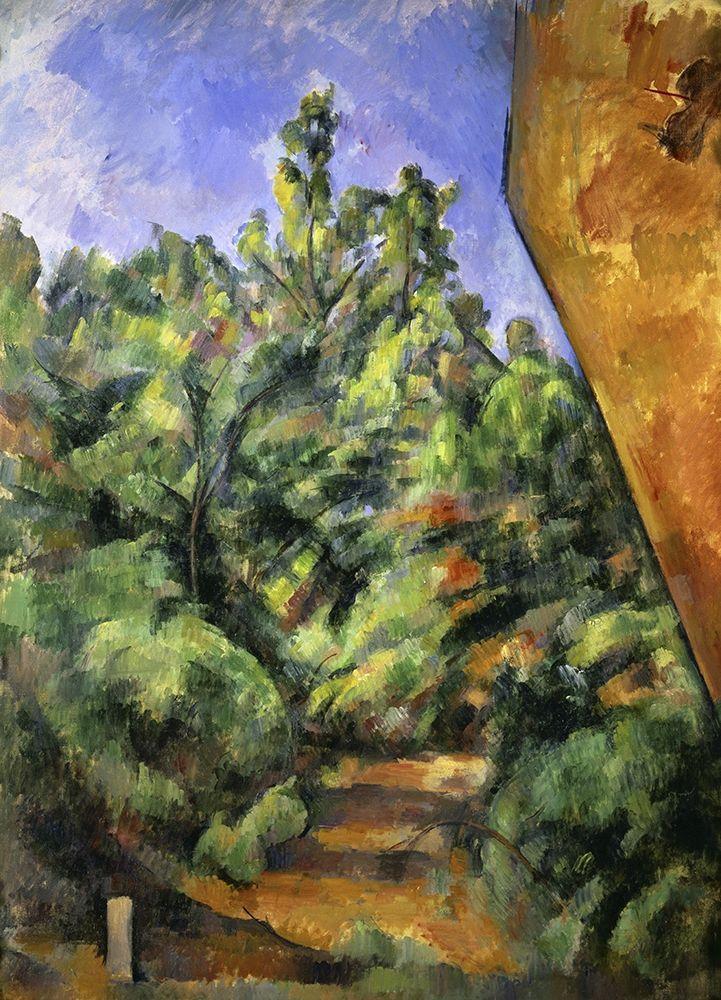 konfigurieren des Kunstdrucks in Wunschgröße The Red Rock (Le Rocher Rouge) von Cezanne, Paul