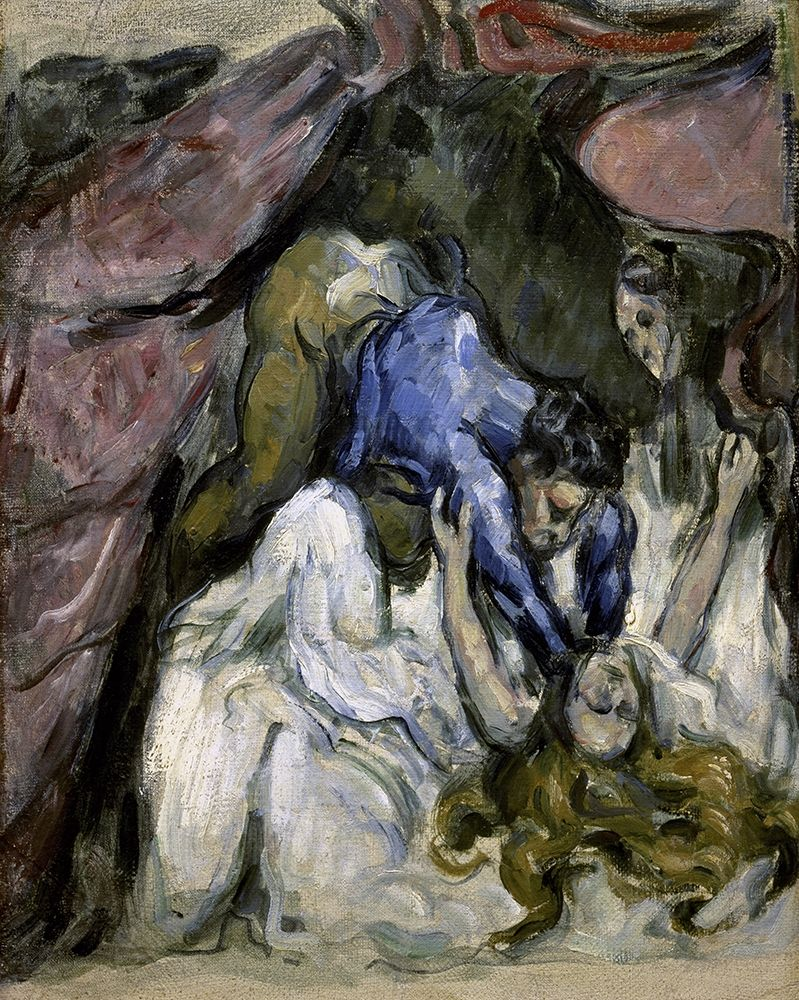 konfigurieren des Kunstdrucks in Wunschgröße The Strangled Woman (Le Femme Stranglee) von Cezanne, Paul