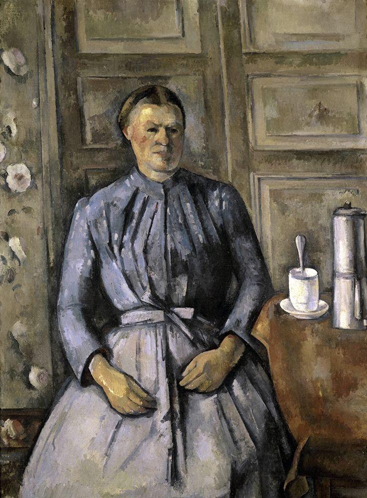 konfigurieren des Kunstdrucks in Wunschgröße Woman at The Cafeteria von Cezanne, Paul
