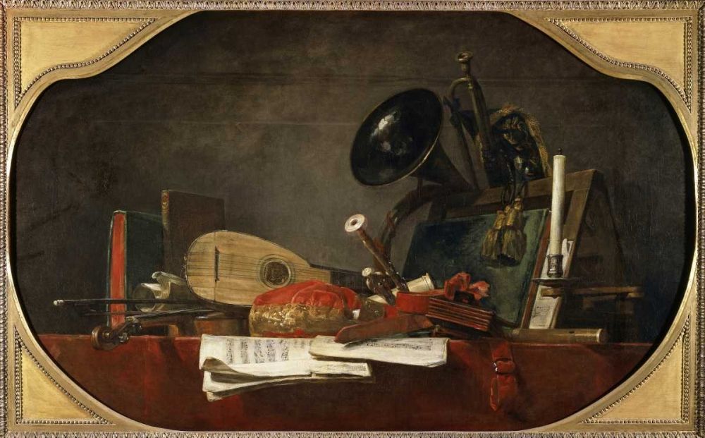 Attributes of Music von Chardin, Jean-Baptiste-Simeon <br> max. 117 x 71cm <br> Preis: ab 10€