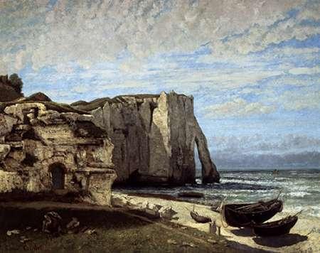 konfigurieren des Kunstdrucks in Wunschgröße Cliffs of Etretat After a Storm von Courbet, Gustave