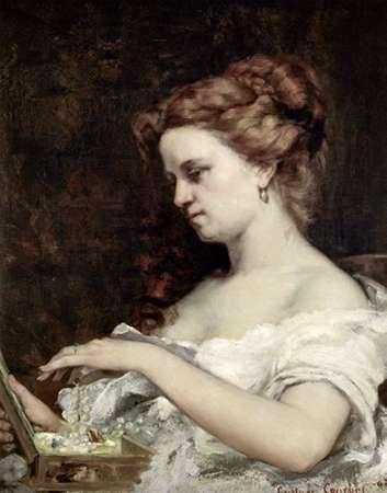 konfigurieren des Kunstdrucks in Wunschgröße Woman With Jewels von Courbet, Gustave