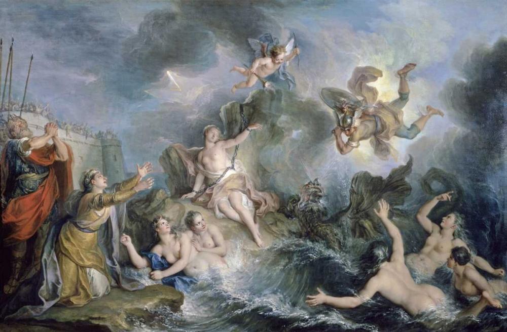 konfigurieren des Kunstdrucks in Wunschgröße Perseus Rescues Andromeda von Einzelbilder