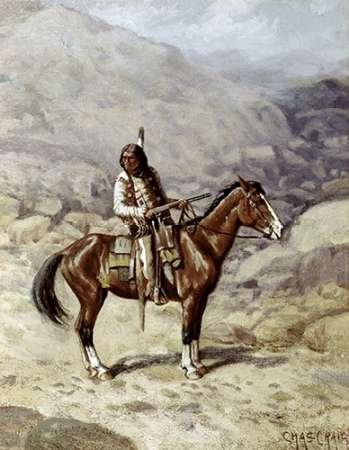 konfigurieren des Kunstdrucks in Wunschgröße Indian On Horseback von Einzelbilder