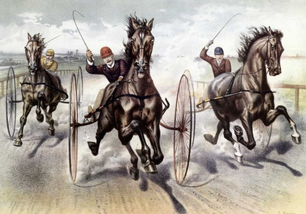 A Race For Blood von Currier and Ives <br> max. 152 x 104cm <br> Preis: ab 10€