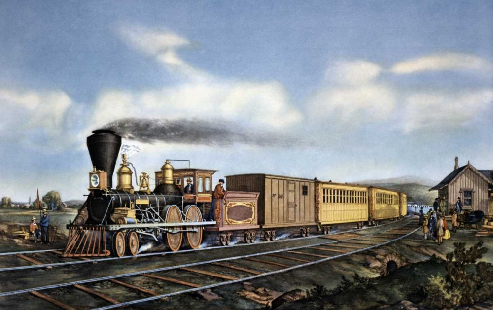 American Express Train von Currier and Ives <br> max. 112 x 69cm <br> Preis: ab 10€