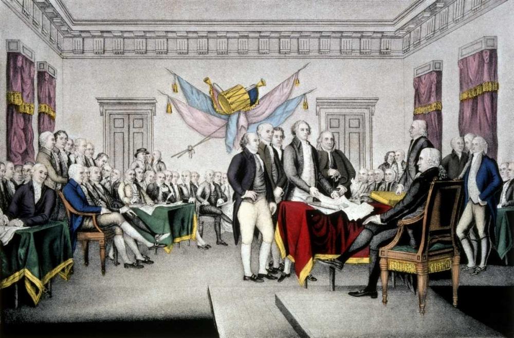 konfigurieren des Kunstdrucks in Wunschgröße Declaration of Independence von Currier and Ives