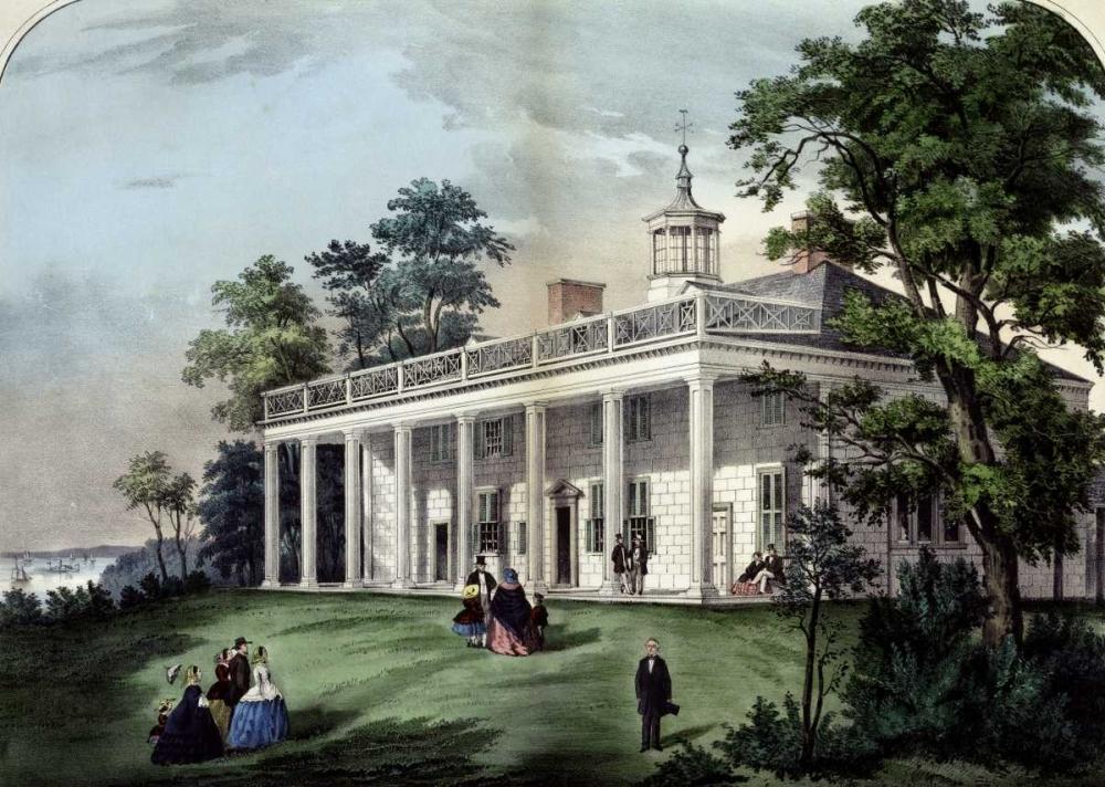 konfigurieren des Kunstdrucks in Wunschgröße Home of Washington von Currier and Ives