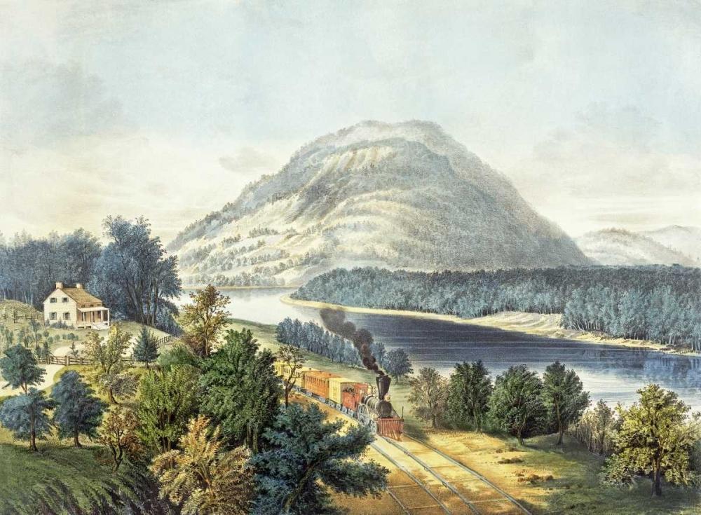 konfigurieren des Kunstdrucks in Wunschgröße Lookout Mountain, Tennessee and The Chattanooga Railroad von Currier and Ives