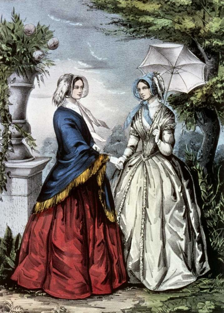 konfigurieren des Kunstdrucks in Wunschgröße Sisters von Currier and Ives