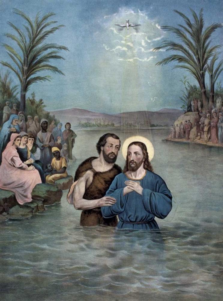 konfigurieren des Kunstdrucks in Wunschgröße The Baptism of Christ von Currier and Ives
