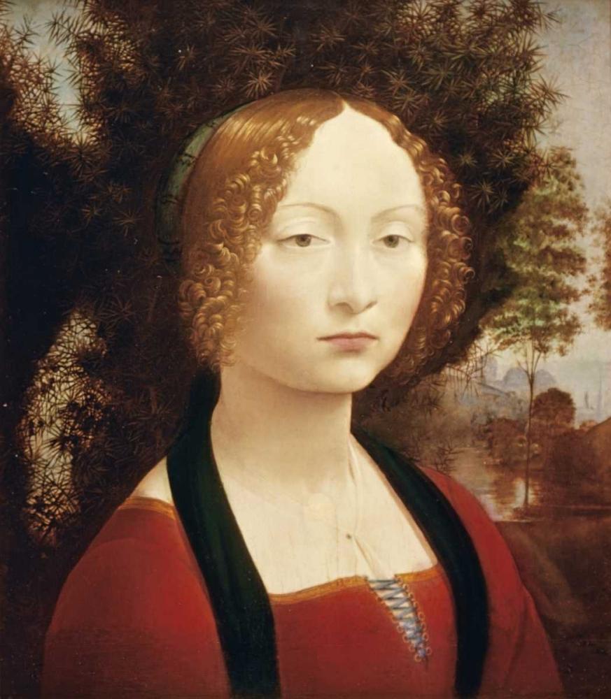 konfigurieren des Kunstdrucks in Wunschgröße Ginevra DeBenci von Da Vinci, Leonardo