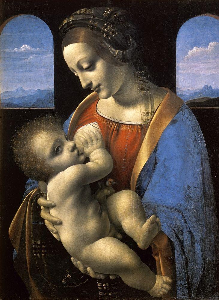 konfigurieren des Kunstdrucks in Wunschgröße Madonna Litta von Da Vinci, Leonardo
