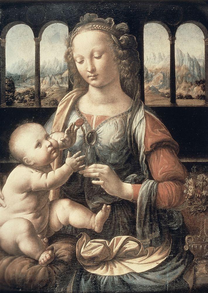 konfigurieren des Kunstdrucks in Wunschgröße Madonna of The Carnation von Da Vinci, Leonardo