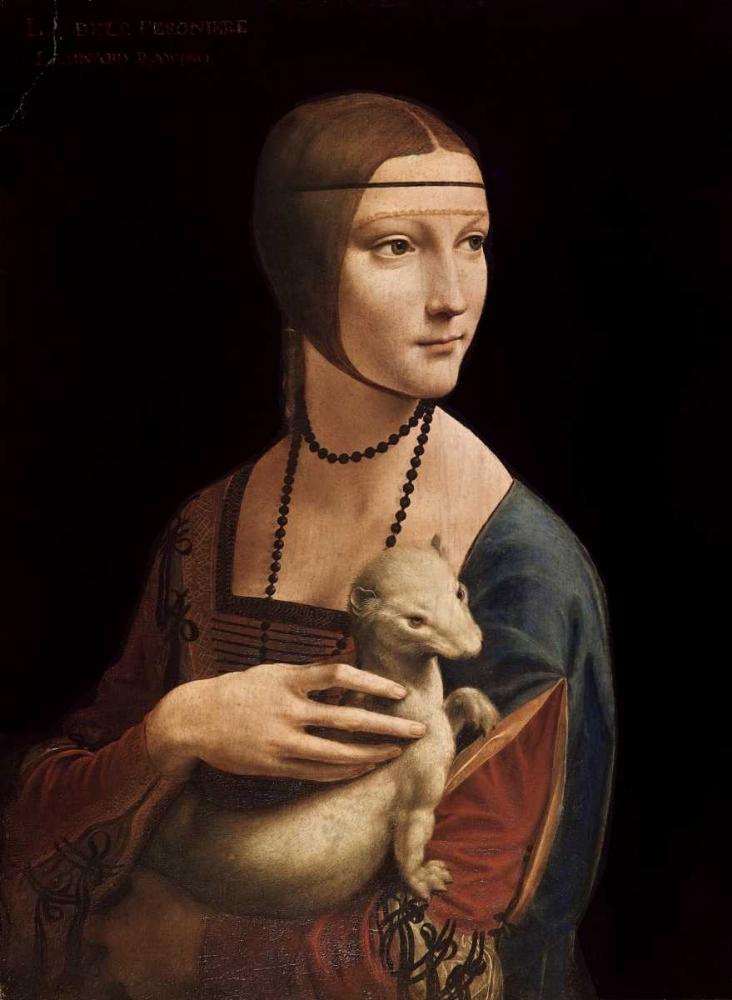 konfigurieren des Kunstdrucks in Wunschgröße Portrait of Cecilia Gallerani - Lady with an Ermine von Da Vinci, Leonardo