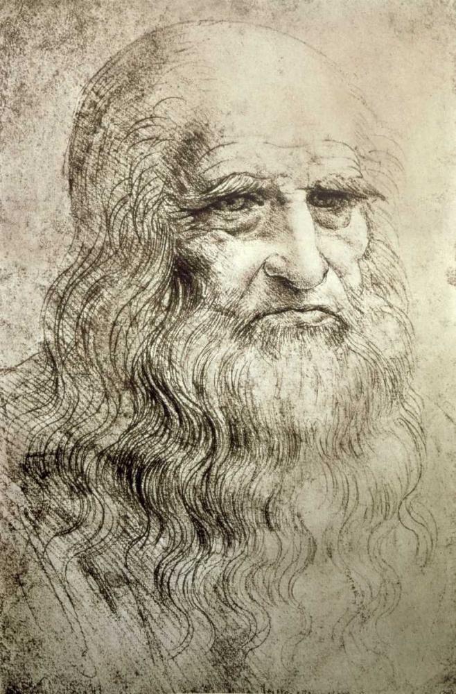 konfigurieren des Kunstdrucks in Wunschgröße Self-Portrait c1515 von Da Vinci, Leonardo
