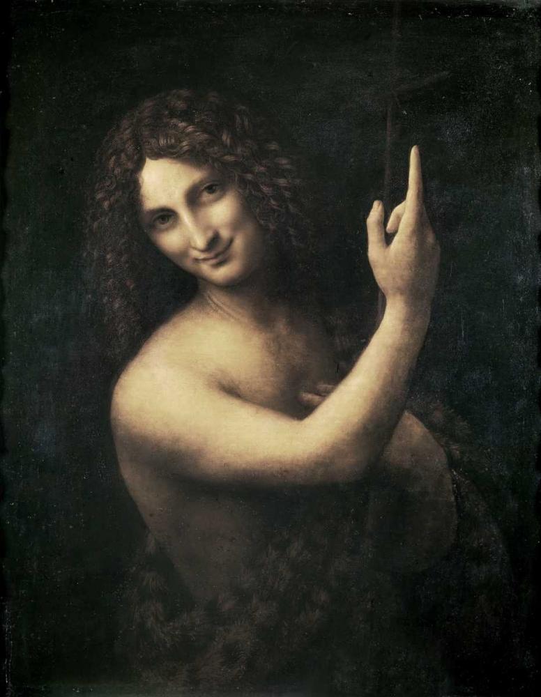 konfigurieren des Kunstdrucks in Wunschgröße St John the Baptist von Da Vinci, Leonardo