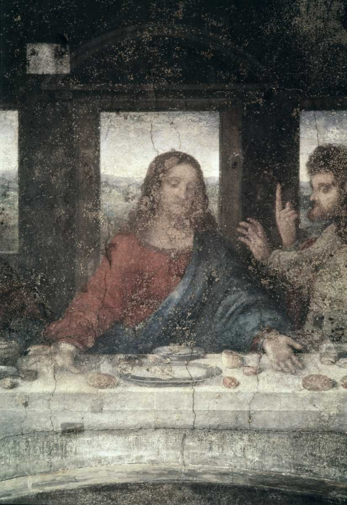 The Last Supper - Detail, Center von Da Vinci, Leonardo <br> max. 74 x 107cm <br> Preis: ab 10€