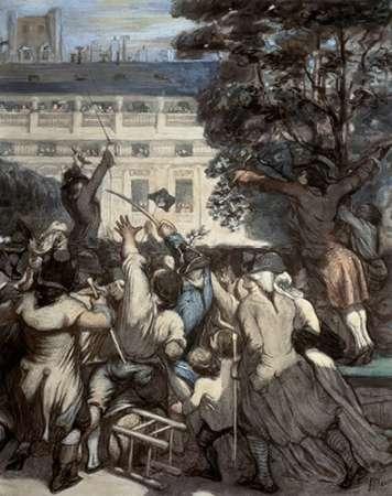 konfigurieren des Kunstdrucks in Wunschgröße Camille Moulin at The Royal Palace von Daumier, Honore