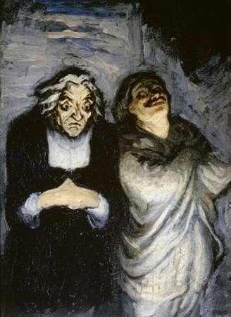 konfigurieren des Kunstdrucks in Wunschgröße Comedy Stage von Daumier, Honore