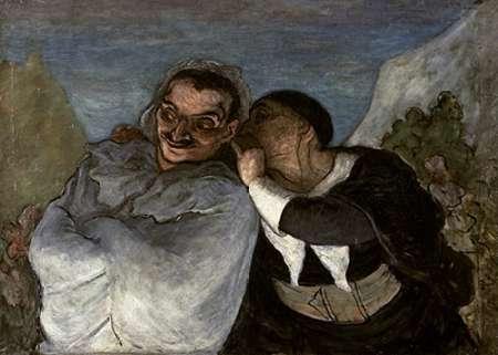 konfigurieren des Kunstdrucks in Wunschgröße Crispin Et Scapin von Daumier, Honore