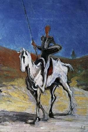 konfigurieren des Kunstdrucks in Wunschgröße Don Quixote von Daumier, Honore