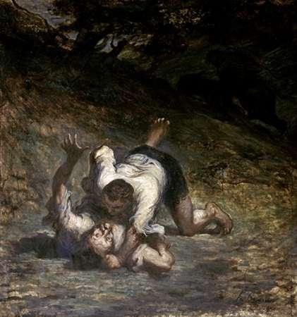 konfigurieren des Kunstdrucks in Wunschgröße Thief and The Ass von Daumier, Honore