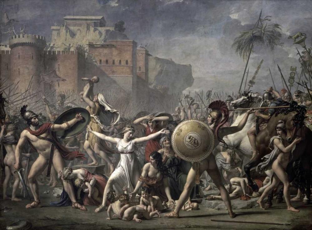 konfigurieren des Kunstdrucks in Wunschgröße The Battle of The Sabines von David, Jacques-Louis