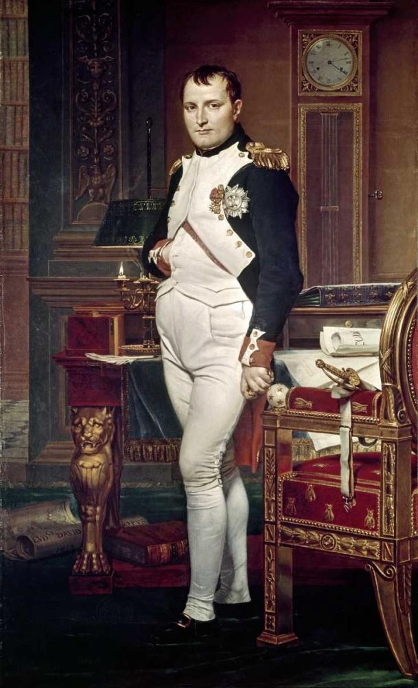 konfigurieren des Kunstdrucks in Wunschgröße Napoleon In His Study von David, Jacques-Louis