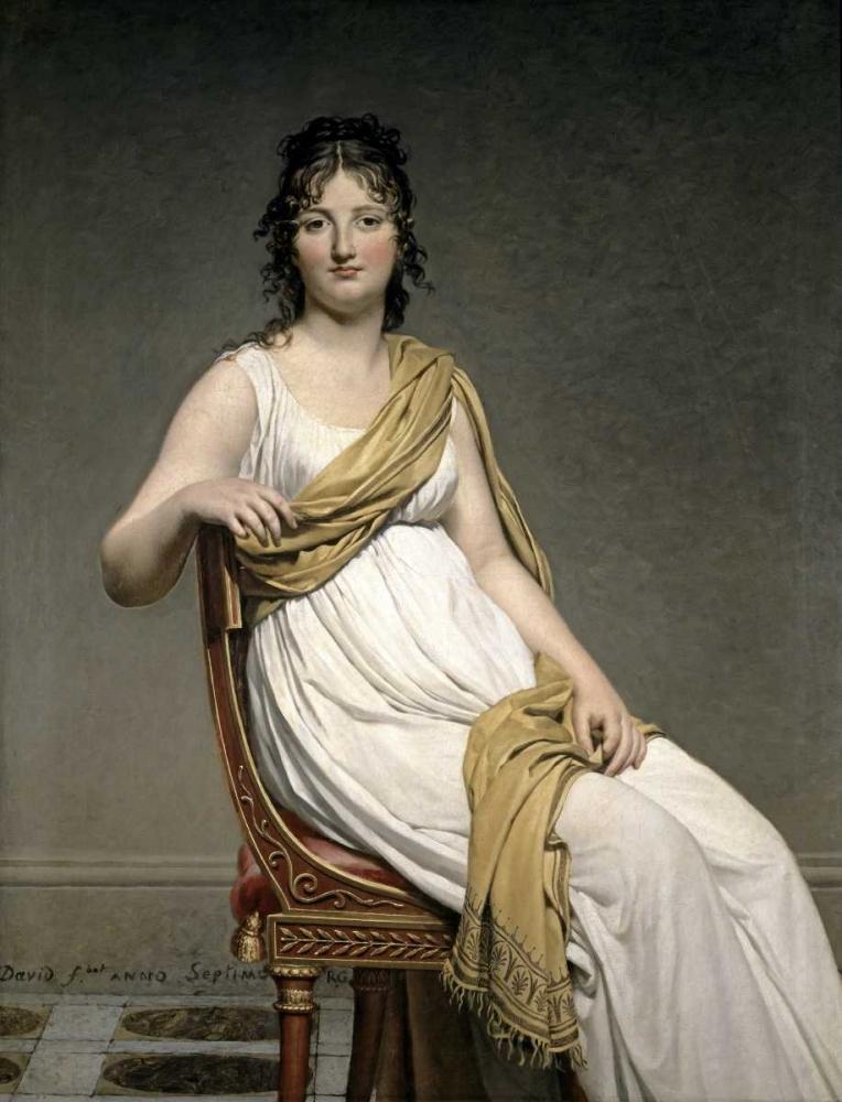 konfigurieren des Kunstdrucks in Wunschgröße Portrait De Madame Verninac von David, Jacques-Louis