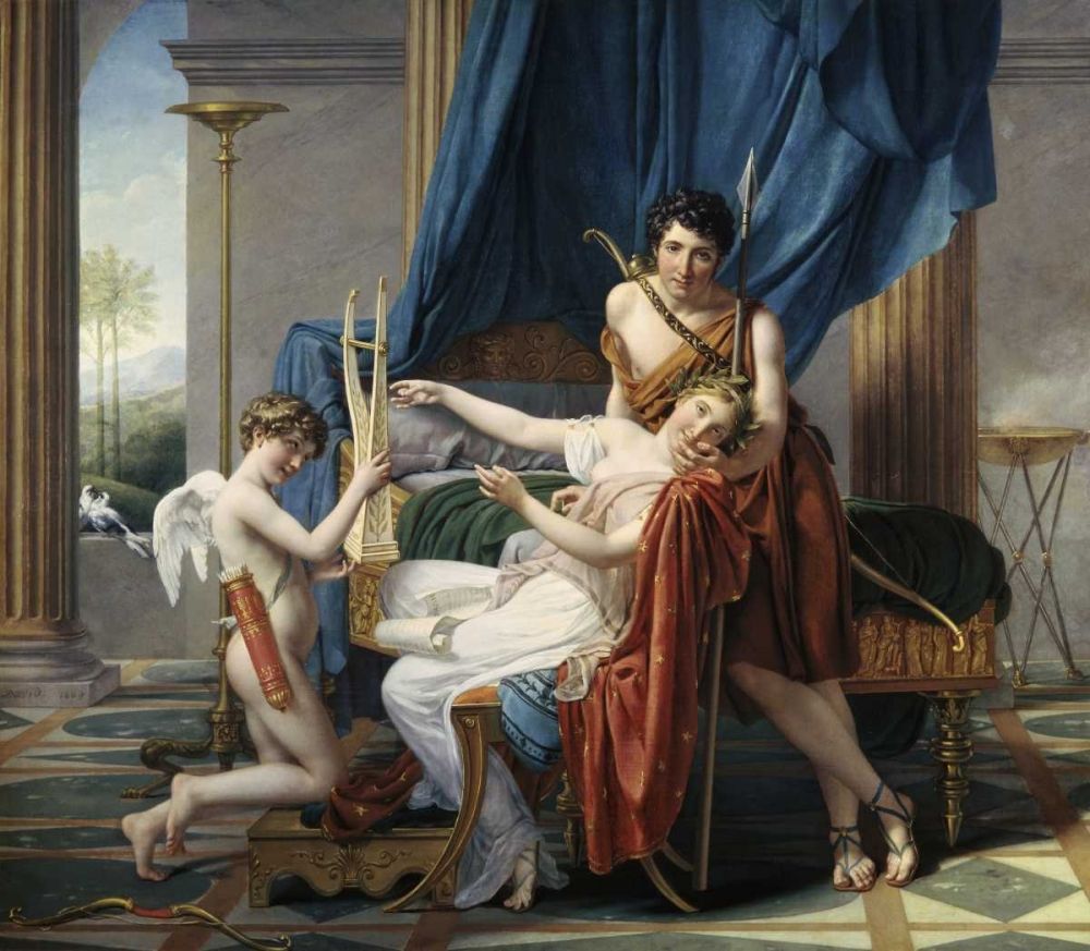 Sappho and Phaon von David, Jacques-Louis <br> max. 102 x 86cm <br> Preis: ab 10€