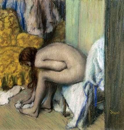 konfigurieren des Kunstdrucks in Wunschgröße After the Bath, Woman Drying Her Feet, 1886 von Degas, Edgar