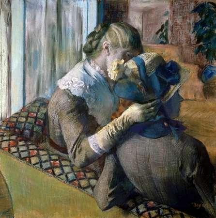 konfigurieren des Kunstdrucks in Wunschgröße At The Milliners von Degas, Edgar