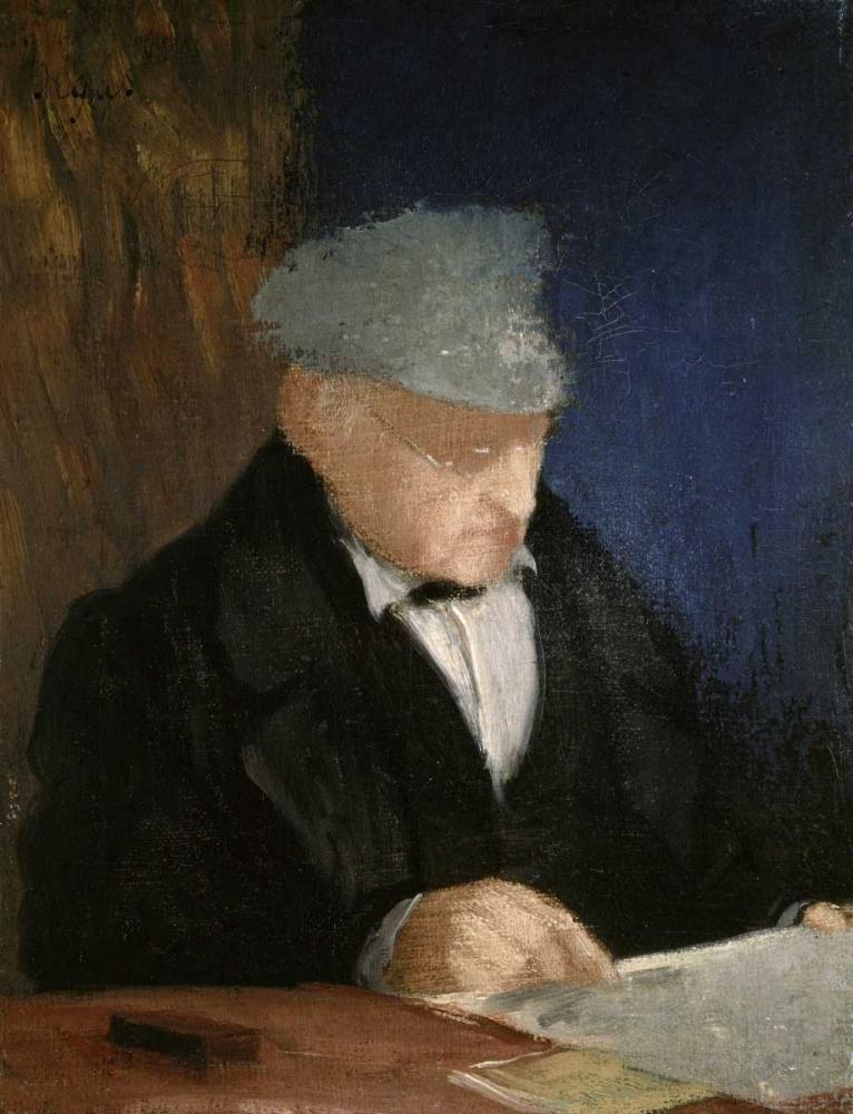 konfigurieren des Kunstdrucks in Wunschgröße Auguste, the Artists Father von Degas, Edgar