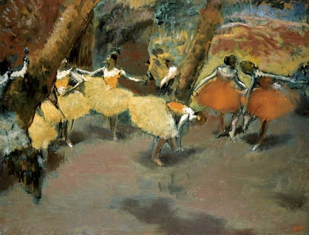 konfigurieren des Kunstdrucks in Wunschgröße Before the Performance von Degas, Edgar