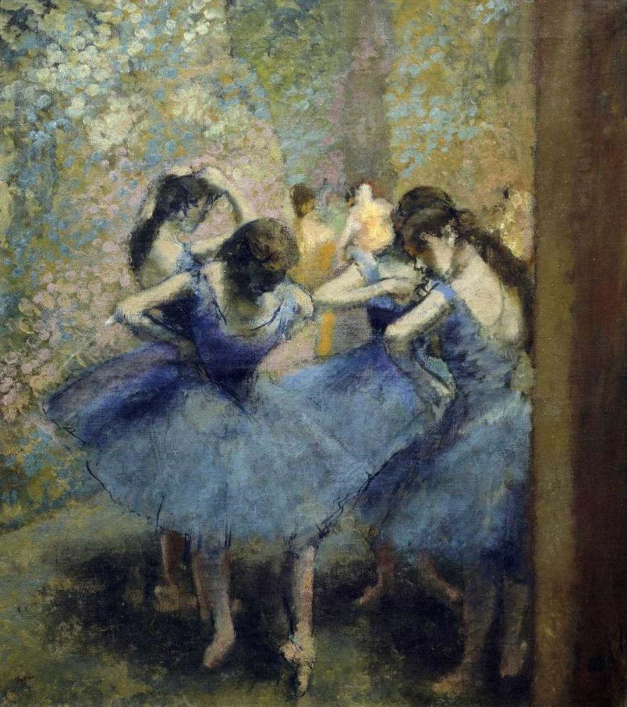 konfigurieren des Kunstdrucks in Wunschgröße Blue Dancers von Degas, Edgar