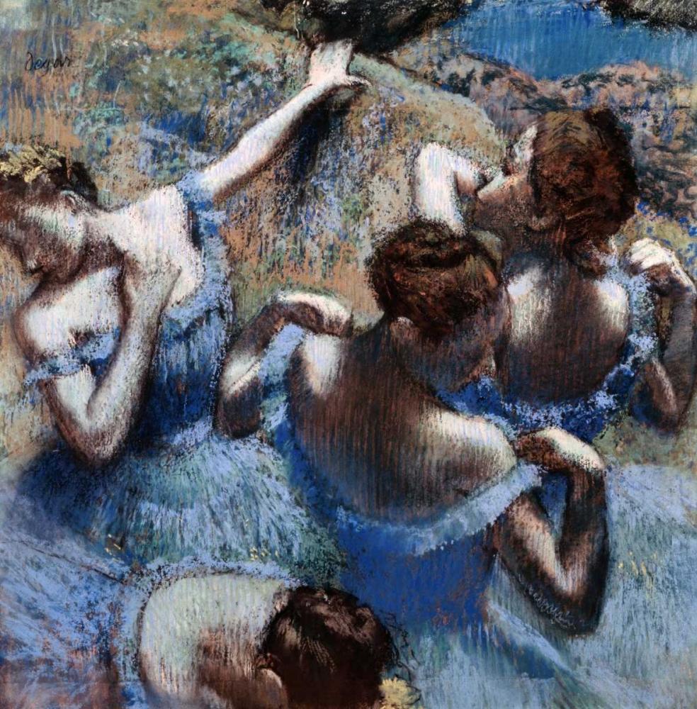 konfigurieren des Kunstdrucks in Wunschgröße Blue Dancers - Les Danseuses Bleues von Degas, Edgar